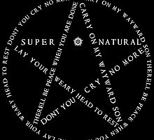 Carry On Anti Possession Symbol - Supernatural (White) by MusicandWriting