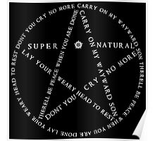 Carry On Anti Possession Symbol - Supernatural (White) Poster
