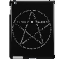Carry On Anti Possession Symbol - Supernatural (White) iPad Case/Skin
