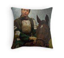 Green Knight Throw Pillow