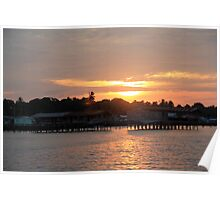 Sunset over Semporna - Borneo, Malaysia Poster