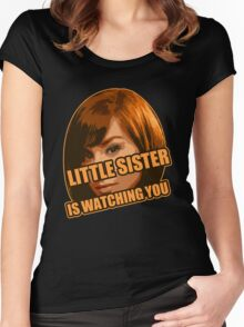 Little Sister is Watching You Women's Fitted Scoop T-Shirt