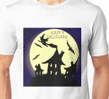 Hand drawn  ink Halloween's illustration  Unisex T-Shirt