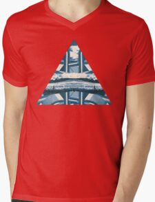 tri-abstract Mens V-Neck T-Shirt
