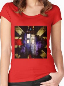 Dr. Who Unijack Women's Fitted Scoop T-Shirt