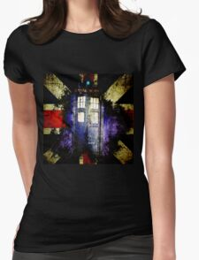 Dr. Who Unijack Womens Fitted T-Shirt