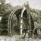 Industrial Revolution - Burden Iron Works Water Wheel by Dennis Melling