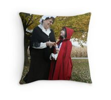 Little Red Riding Hood and her Grandmother Throw Pillow