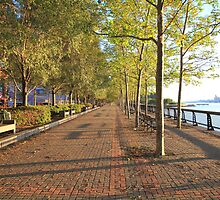 Hoboken Promenade on the Hudson River by pmarella