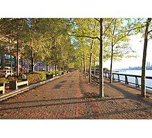 Hoboken Promenade on the Hudson River Photographic Print