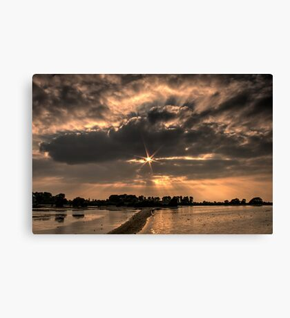 Just Before Sunset at Tring Reservoir (HDR) Canvas Print