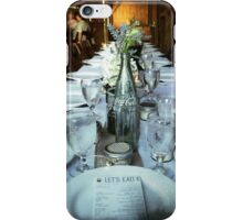 Vintage country table setting iPhone Case/Skin