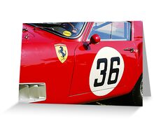 Classic Red Ferrari Greeting Card