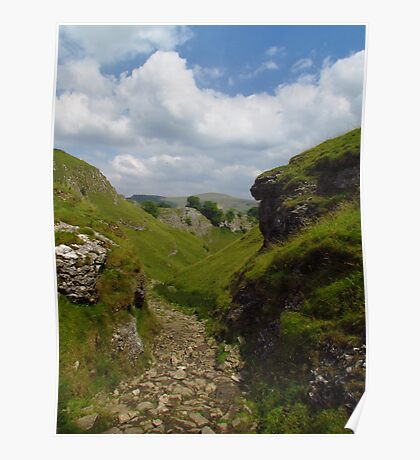 Cave Dale and Peveril Castle Poster