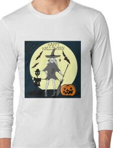 Hand drawn  ink Halloween's illustration Long Sleeve T-Shirt