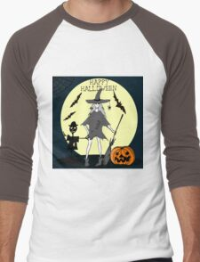Hand drawn  ink Halloween's illustration Men's Baseball ¾ T-Shirt