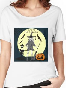 Hand drawn  ink Halloween's illustration Women's Relaxed Fit T-Shirt