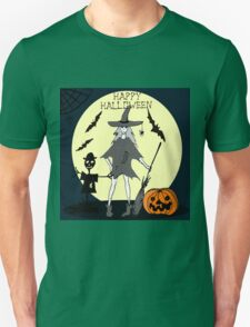 Hand drawn  ink Halloween's illustration T-Shirt