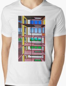 HIGHRISE IN THE BERKSHIRES - a diptych Mens V-Neck T-Shirt