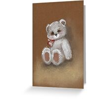 Teddy on toned paper Greeting Card