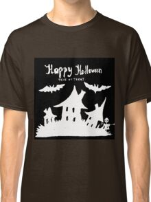 Hand drawn  ink Halloween's illustration  Classic T-Shirt