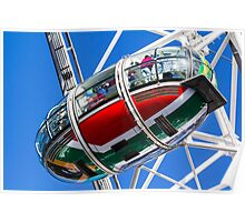 The London Eye South African Flag Poster