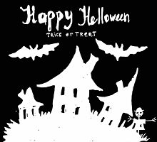 Hand drawn  ink Halloween's illustration  by TrishaMcmillan