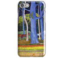 Paul Gauguin - Landscape with Blue Trunks iPhone Case/Skin