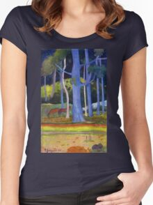 Paul Gauguin - Landscape with Blue Trunks Women's Fitted Scoop T-Shirt