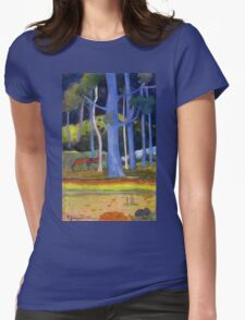 Paul Gauguin - Landscape with Blue Trunks Womens Fitted T-Shirt