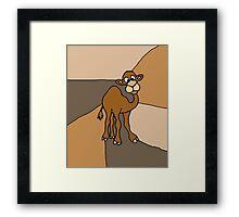 Funky Goofy Camel Original Art Abstract Framed Print