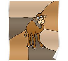 Funky Goofy Camel Original Art Abstract Poster