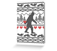 Gone Squatchin for Love this Holiday Greeting Card