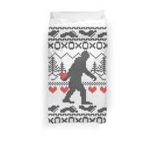 Gone Squatchin for Love this Holiday Duvet Cover