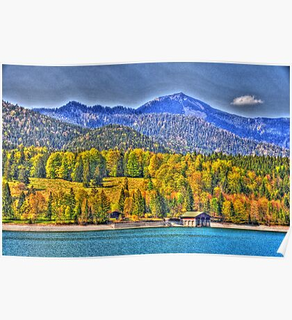 HDR - Lake Walchensee II Poster