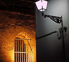 Murallas y Farol, Plaza Alfaro, Barrio Santa Cruz, Seville by Tom Bartle