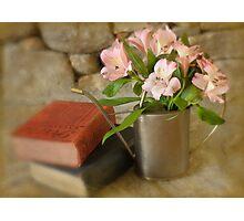 Books & Botanicals Photographic Print