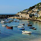 A Peaceful Moment at Mousehole, Cornwall by rodsfotos