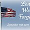 WE WILL NEVER FORGET- 9/11 TRIBUTE  September Voucher 