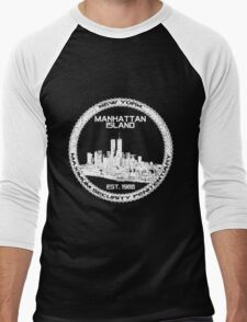 Escape From New York White Men's Baseball ¾ T-Shirt