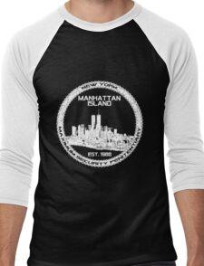 Escape From New York White Men's Baseball ¾ T-Shirt