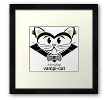 HeartKitty Vampi-Cat Framed Print