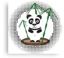 Illustration of  panda with bamboo Canvas Print