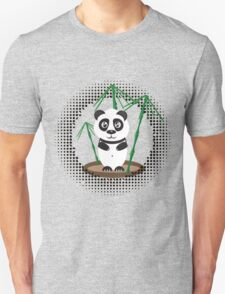 Illustration of  panda with bamboo T-Shirt