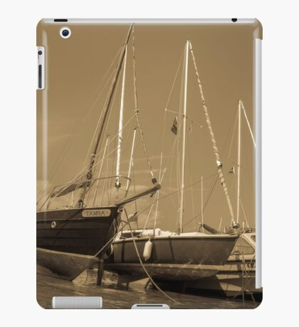 Sail boats in harbour iPad Case/Skin