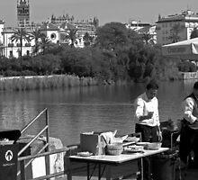 Camarero, Río Guadalquivir, Seville  by Tom Bartle