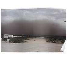 Dust storm Nullarbor Road house Poster