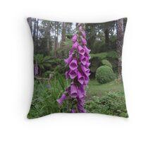 Purple foxglove - Dandenong Ranges Throw Pillow
