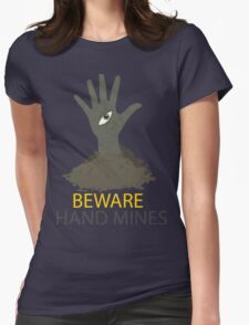 Beware of the Hand Mines 02 (Doctor Who) Womens Fitted T-Shirt