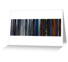 Moviebarcode: Audition (1999) Greeting Card